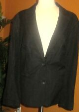 KATE HILL NWT $160 black linen rayon women's blazer jacket