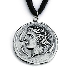 Replica Arethusa Nymph Ancient COIN Necklace #925 Sterling Silver #Azaggi N0452S