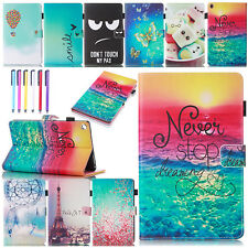 Patterned Smart Leather Wallet Case Stand Cover For Amazon Kindle Fire HD 8 2016