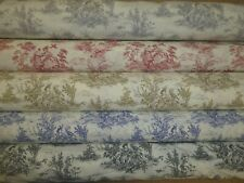 TOILE DE JOUY - Provence Fryetts Cotton Fabric - Curtains, Cushions & Upholstery