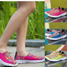 Womens Old Beijing Comfortable Knitting Summer Sport Athletic Flat Shoes Size