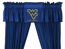 West Virginia Mountaineers Window Treatments Valance and Drapes