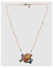 Bass 10 girls' necklace with embroidered bird