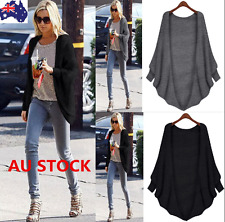 Women Batwing Sleeve Knitted Sweater Tops Loose Cardigan Outwear Jacket Coat