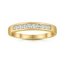 1/4ctw Diamond Channel Wedding Band in 10k Yellow Gold
