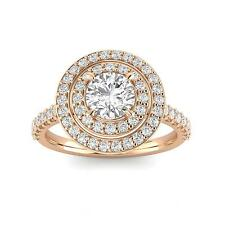 1.25ctw Diamond Halo Engagement Ring in 14k  Rose Gold