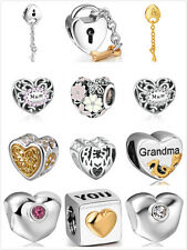 Hot ! High Quality 925 Silver European Charms Beads Fit Bracelet Snake Chain US