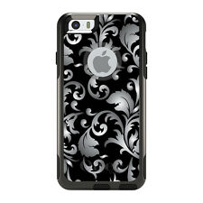 OtterBox Commuter for iPhone 5S SE 6 6S 7 Plus Silver Black White Floral