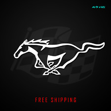 Mustang Logo Vinyl Decal Sticker 5.0 gt horse classic pony ford gt rt racing 380