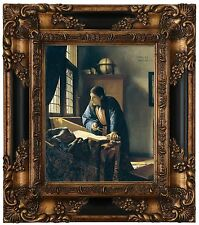 Vermeer The Geographer Wood Framed Canvas Print Repro 8x10