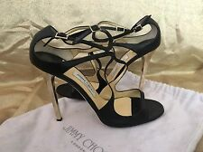 $850 authentic JIMMY CHOO black Leather  pumps HEELS shoes 42 Or 12