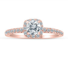 1/2ctw Diamond Halo Engagement Ring in 10k  Rose Gold