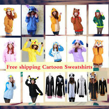 HOT Wholesale Polar Fleece Animal Cute Cartoon Hoodie Hooded Hoody Coat Jacket