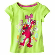 Sesame Street Elmo Toddler Girls T-Shirt Green Graphic Character 3T 4T 5T nwt