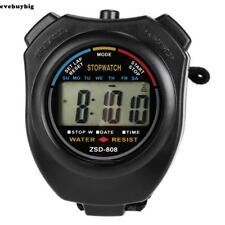 LCD Digital Sports Stop Watch Chronograph Time Date Alarm Timer Count E45B