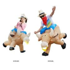 Anself Cute Inflatable Costume Cattle Rider Suit Fancy Dress Adult Children I4W7