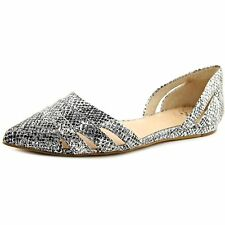 Vince Camuto Womens Halette Leather Pointed Toe Ballet Flats Ballet Flats