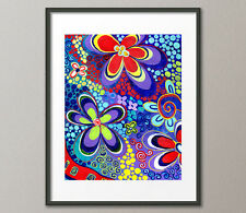 Fine Art Prints Colorful Whimisical Psychedelic Contemporary Abstract Pop Art Md