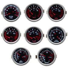 2'' 52mm Car LED Boost Vacuum Water Oil Fuel Temp Pressure Tachometer Volt Gauge