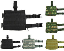 Molle Tactical Airsoft Military Utility Magazine Drop Leg Thigh Pouch Panel Bag