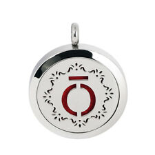Symbol Necklace Pendant Lockets Stainless Steel Aromatherapy Diffuser Fragrant