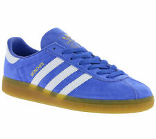 NEW adidas Originals Munich Men's Real leather Sneaker Indoor shoes Blue BB2777