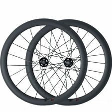 Single Speed Fixed Gear Carbon  Wheels 50mm Tubular Track Bicycle 700C Wheelset