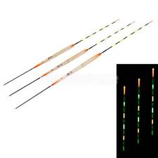 LED Fishing Float Night Floats Wooden Electric Luminous Float Fishing Tackle
