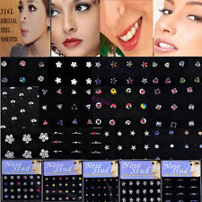 Wholesale Lots Nose Ring Studs Stainless Steel Body Piercing Earrings Jewelry