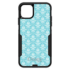 OtterBox Commuter for iPhone 5 SE 6 S 7 8 PLUS X Baby Blue White Damask Pattern