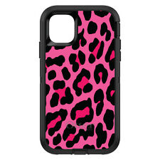 OtterBox Defender for iPhone 6 6S 7 8 PLUS X Hot Pink Black Leopard Skin