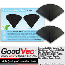 Filter Queen Activated Charcoal Filter Cones 2 Pack Odor Filters Replacement