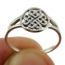 Celtic Trinity Heart Knot Silver Ring, MIX US SIZE, Plain Solid Silver, rp611