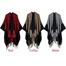 Oversized Women's Bohemian Jacket Cape Fringe Poncho Scarf Shawl Sweater N5Q6