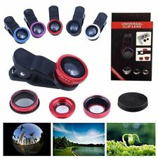 3 in 1 Camera Lens Wide Angle & 180° Fish Eye & Macro Clip for iPhone 5S 6 6S 7