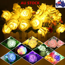 10-20 LED String Fairy Lights Rose Shaped Battery Lamp Wedding Garden Party Xmas