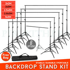 Photography Photo Screen Background Support Stand Kit for Muslin Vinyl Backdrop