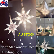 North Star Xmas Tree LED String Lights Window Sucker Decor Festival Party Lamps