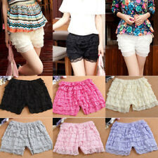 Ladies Women Lace Tiered Shorts Safety Bottoming Under Pants Short Leggings NEW