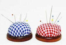 nice Pin cushion with Wooden legs Needle cushion for Sewing needles Pins