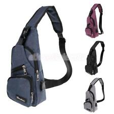 Small Chest Bag Outdoor Sports Travel Shoulder Bag Sling Backpack with USB