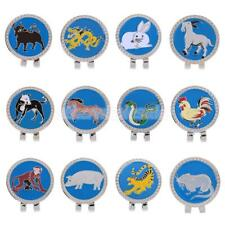 Funny Chinese Zodiac Magnetic Hat Clip with Golf Ball Marker - 12 Styles