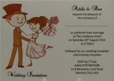 Personalised Invitation Ivory Wedding Day Invites Dancing Bride And Groom