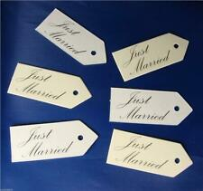 10 Just Married Tags Wedding Favour Gift Luggage Labels White Or Ivory