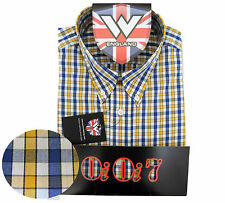 Warrior UK England Button Down Shirt BROSNAN Slim-Fit Skinhead Mod Retro SMALL