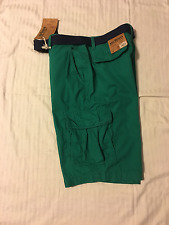 Urban Pipeline: Men/Young Men Classic Length Cargo Shorts, w & w/o Belt: 34, 36