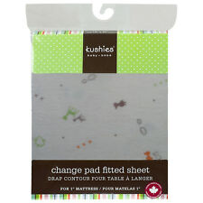 Kushies Cotton Flannel Fitted Change Pad | Fully Elasticized for a Perfect Fit