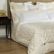 NEW Frette AIRY 5Pc SET King or 4 Pc Queen DUVET Cover + Euro SHAMS Ivory Beige