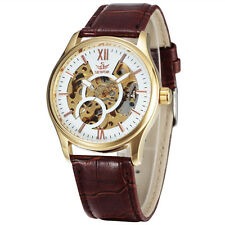 Sewor Automatic gents Mens Watch Skeleton movement Fashion Casual Mechanical Hot