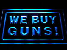 i1009-b We Buy Guns Display Shop Firearms Neon Light Sign